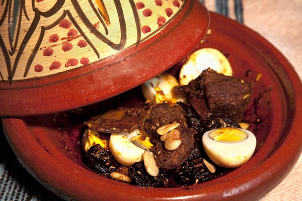 Classic beef, prune and almond tagine
