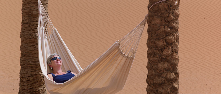 Laze in one of the hammocks
