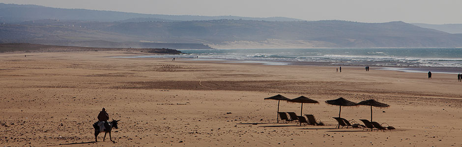 The vast and empty beach of Sidi Kaouki