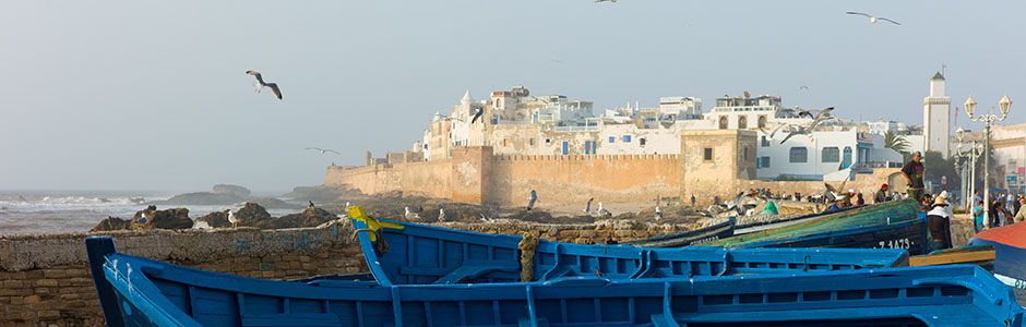 The medina walls of Essaouira