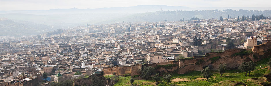 The ancient UNESCO-protected medina of Fes