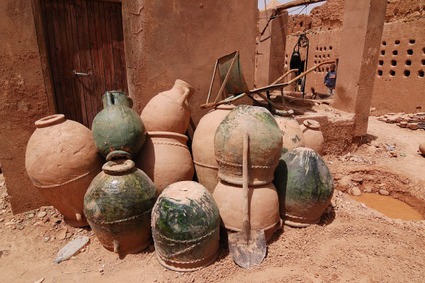Pottery and kilns at Tamegroute