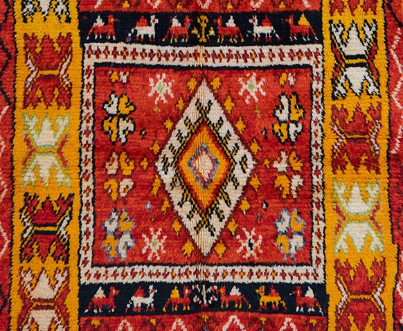 Ait Tamassine rug from the Ait Ouaouzguite tribe